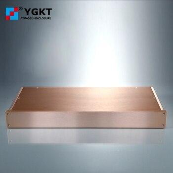 Алюминиевый корпус/усилитель для электронных проектов, 438*45-200 мм (ШхВ-D)