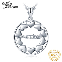 JewelryPalace 925 Sterling Silver Marriage Hollow Out Love Hearts Round Pendant Marry Eternal  Not Include A Chain