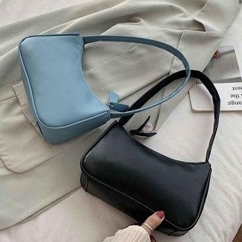 Bolso de mano Retro para mujer, de piel sintética bolso de hombro, bolso con asa Vintage, bolso con asa de calidad para mujer, pequeño bolso de mano