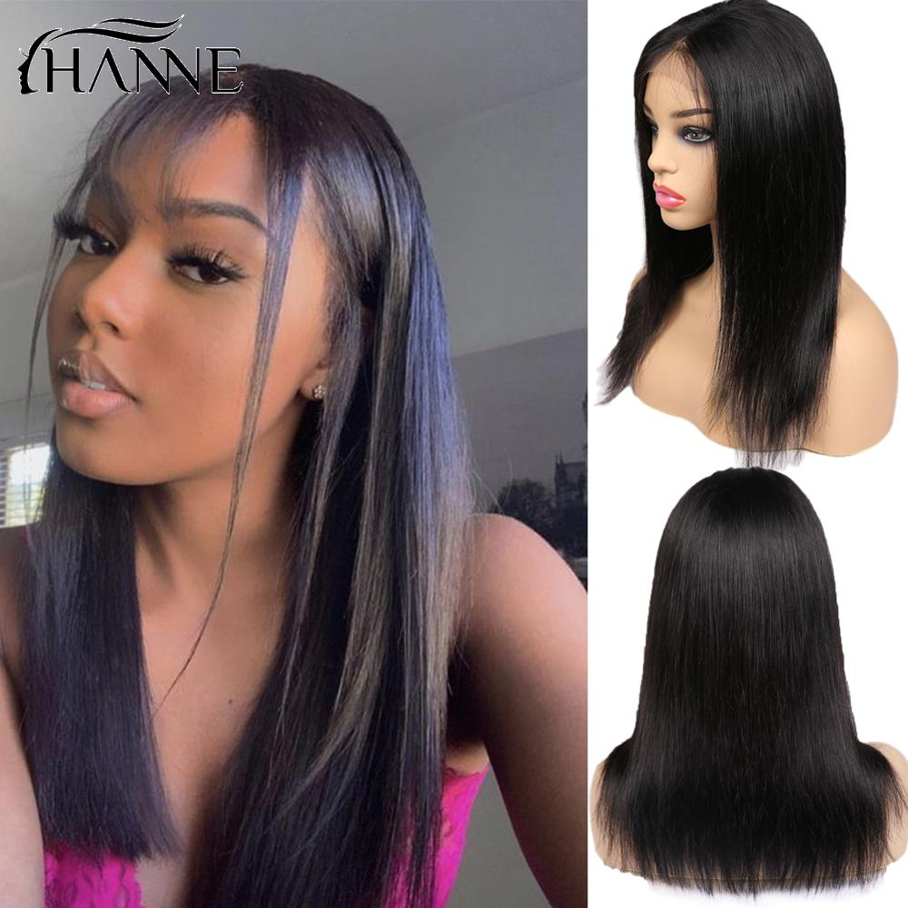 4X4 Swiss Lace Closure Wigs Human Hair Closure Wigs 3 Part Wig For Black/White Women With Natural Hairline Straight Remy Hair