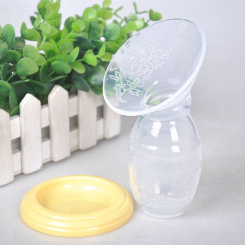 High Quaity Infant Baby Feeding Milk Saver Suction Bottle Feeding Baby Soft Silicone Feeding Manual Breast Pump Breastfeeding