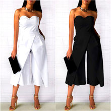 New Fashion Women Ladies Clubwear Strapless Playsuit Bodycon