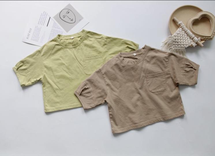 2020 Spring And Summer-KID'S T-shirt  Loose-Fit Crew Neck  Children T-shirt Half-sleeve Shirt T-shirt