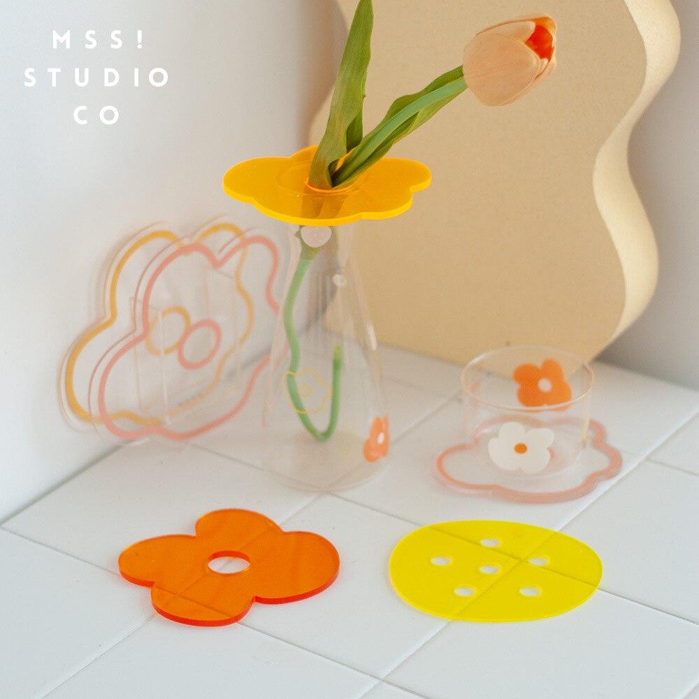 Новые милые контейнер с цветочным узором декоративное акриловое стекло вазы для цветов дизайн Свадебная вечеринка цветы композиции для ук...