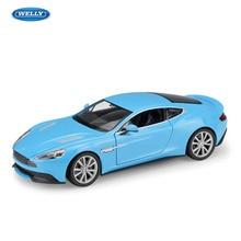 цена на WELLY 1:24 Aston Martin Vanquish sports car machine Simulation Alloy Car Model Collection toy tools