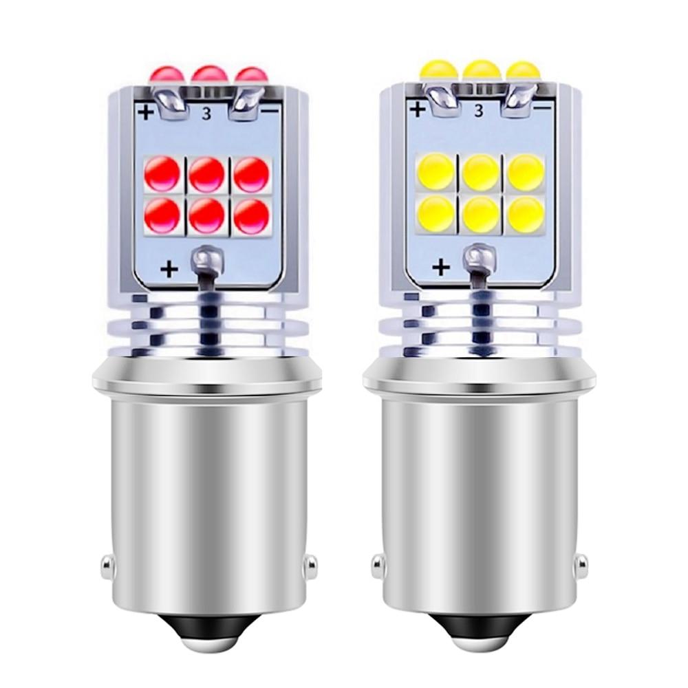 2 шт. 1156 BA15S P21W R5W супер яркий 1800Lm светодиодный автоматический сигнал поворота, лампа заднего хода, Тормозная лампа, дневной ходовой светильни...