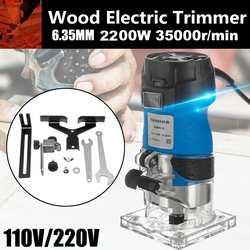 2200W 220V drewna elektryczny trymer drewna frezowanie grawerowanie dłutowanie maszyna do przycinania ręcznie frezarka do drewna frezarka do drewna Elektryczne trymery Narzędzia -