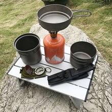Mesa para acampar al aire libre, Mini mesa plegable de aluminio ultraligera para acampar al aire libre en la playa