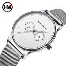 Мужские кварцевые роскошные многофункциональные часы с двойным