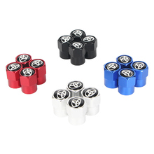 Wheel-Tire-Valve-Stem-Caps-Cover Auto-Accessories Auris Avensis Corolla Toyota New 4PCS