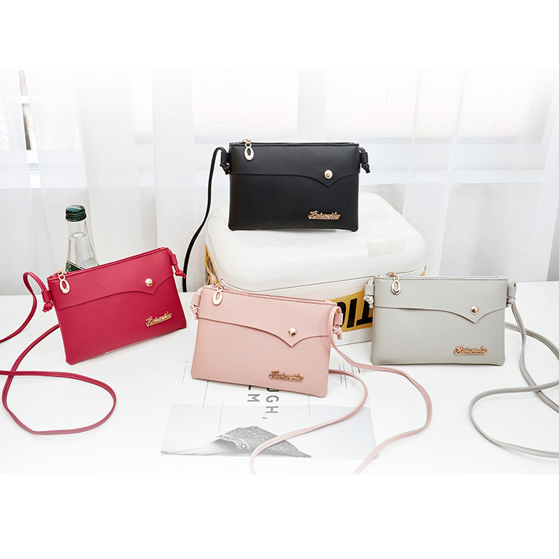 Women Messenger Bags Woman Bag 2019 Famous Brands Women Fashion Solid Color Shoulder Crossbody Phone Beach Bag Bolsas De Mujer