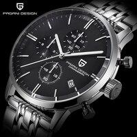 Herren Schwarz Uhr PAGANI DESIGN Top Luxus Marke Wasserdicht 30M Military Sport Quarz Taucher Uhren Männer Uhr Relogio Masculino