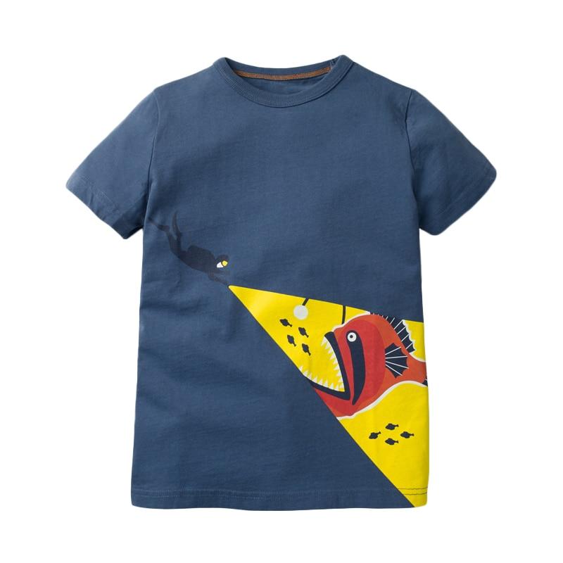 Little maven children 2021 summer new baby boys clothes animal print brand short sleeve t shirt boy tee tops 4