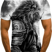 Printed T-Shirt Short-Sleeve Hip-Hop 3D Summer Size-110-6xl Casual O-Neck New