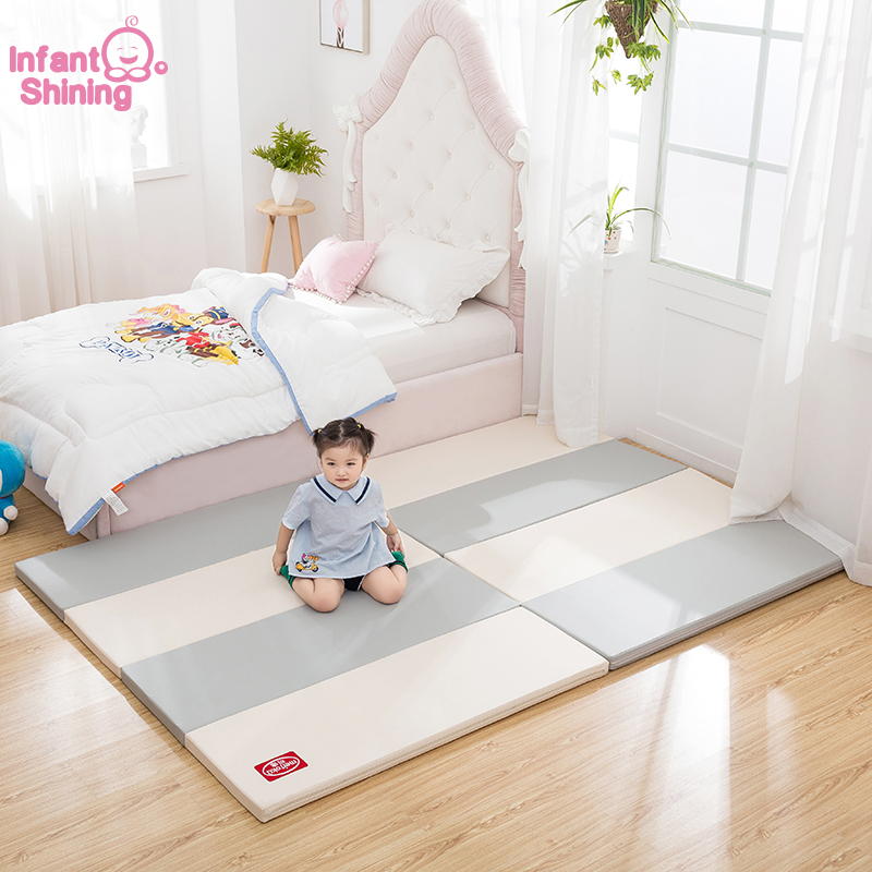 Infant Shining Baby PlayMat 4CM Thickness Play Mat 120X160CM Large Mat Waterproof 4 fold Baby Play Mat Children Game Mat-in Play Mats from Toys & Hobbies    1