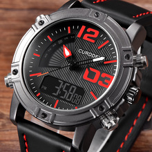 CURDDEN New Fashion Luxury Men Leather Led Watch Business Watches Sports Military Waterproof Relogio Masculino