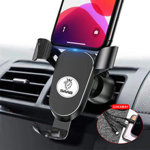 Metal Phone Holder Car Navigation Mobile Phone Holder Bracket Support For saab 9-3 9-5 93 95 900 9000 Car Logo Auto Accessories