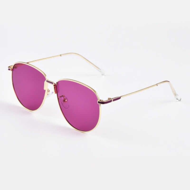 ใหม่แฟชั่นRetro Ovalกรอบโลหะแว่นตากันแดดผู้หญิง 2020 แว่นตากันแดดVintage Vintageเลนส์นักบินดวงอาทิตย์แว่นตาผู้ชายขับรถแว่นตา