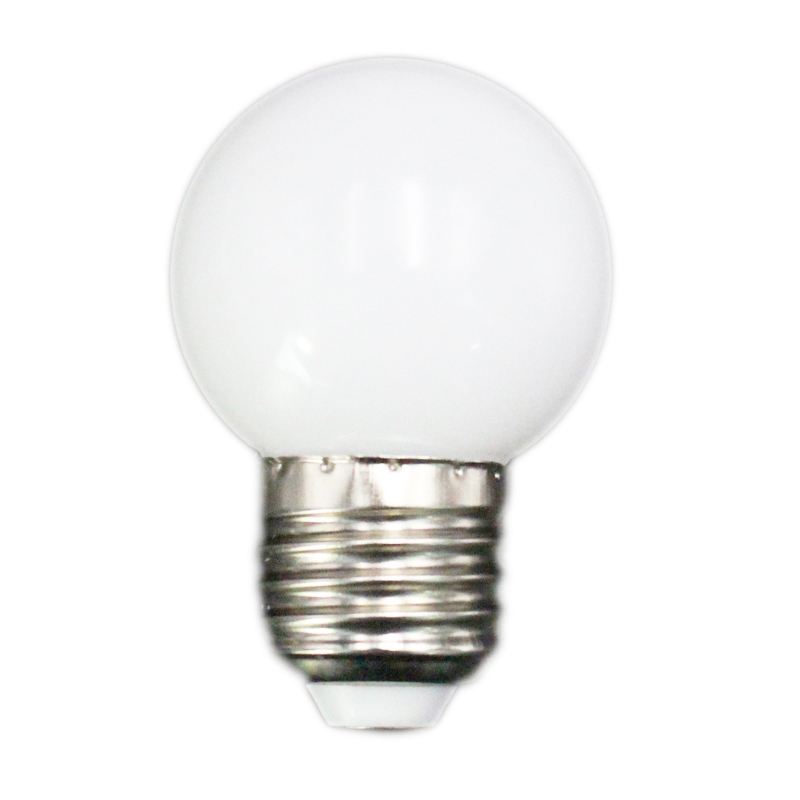 Promotion! E27 Led Bulbs - E27 1w Pe Frosted Led Globe Colorful White/Red/Green/Blue/Ylellow Lamp 220v -1PCs(white)
