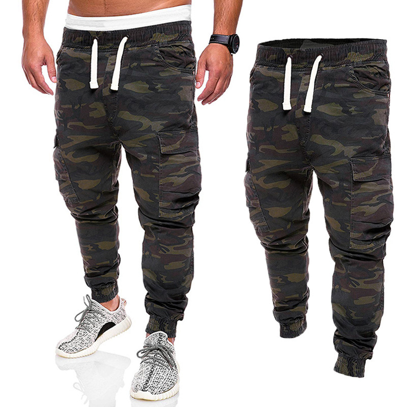 2019 New Style Ouma Men Camouflage Bib Overall Cotton Trousers Europe And America Fashion-Slim Fit MEN'S Wear Ankle Banded Pants