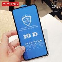 YIYONG 10 D completa de la cubierta de vidrio templado para iPhone 11 Pro Max vidrio para iPhone X XR XS Protector de pantalla para iPhone 12 Mini Pro Max