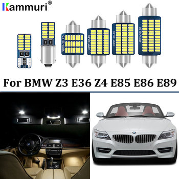 100% Perfect White Error Free Canbus LED bulb interior Map Dome light + License Plate Lamp Kit For BMW Z3 E36 Z4 E85 E86 E89 image