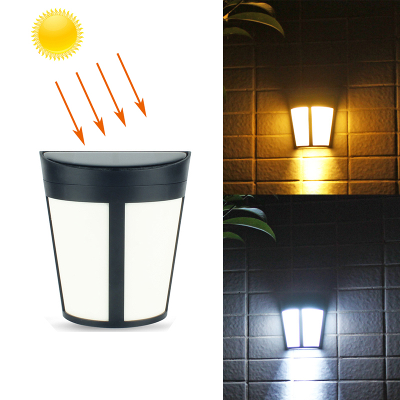 LED Solar Power Light Control Wall Light 6 LEDs Outdoor Waterproof Energy Saving Auto ON OFF Garden Yard Landscape Lighting