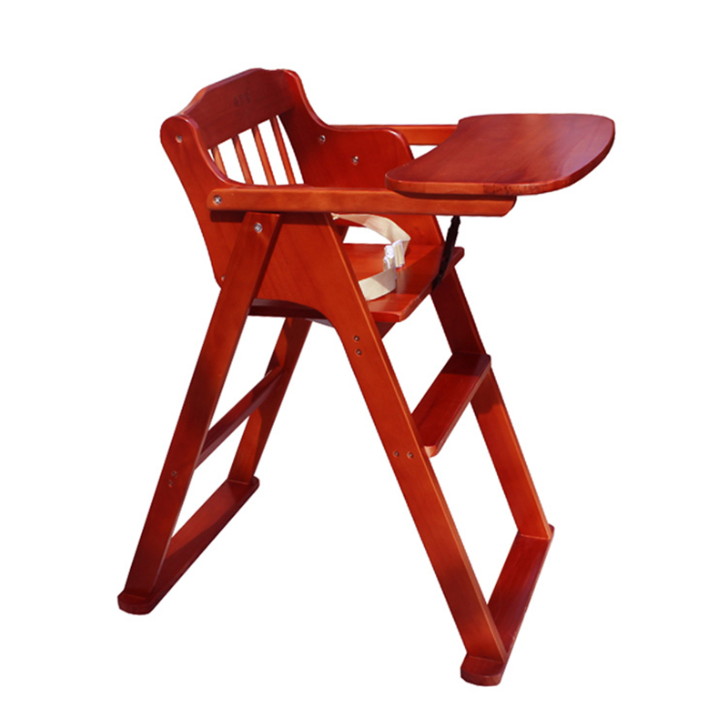 Solid Wood Children's Dining Chair Portable Baby Chair Baby Dining Chair Foldable Multifunctional Baby Dining Chair Hotel Stool