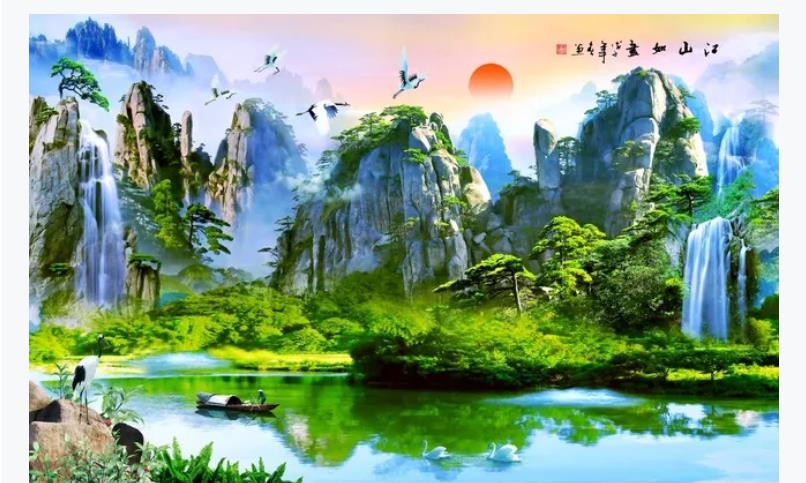 Home Improvement 3D Wallpaper Beautiful Scenery Wallpapers For Living Room Bedroom Modern Home Decor Wall Murals
