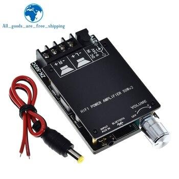 Placa amplificadora digital Bluetooth 5,0, estéreo HIFI, TPA3116 50WX2, amplificador de audio con filtro