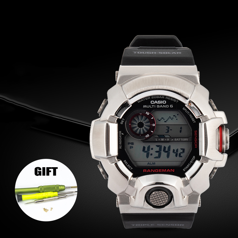 316L Stainless Steel Watch Case&Strap For Casio G-shock Watch Bezel For Casio <font><b>GW</b></font>-<font><b>9400</b></font> Watch Band Bumper For G-shock Watch image