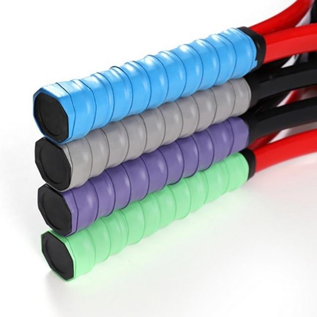 New Non-slip Tennis Racket PU Tennis Grip Sweat-absorbent Belt Badminton Grip Sports Sweat-absorbent Tennis Accessories 2020