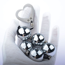 Solid Metal 1-6 Ball Anal Beads Vagina Ball Man/women Anal Vagina Stimulation Dilator Pull Beads Dildo Buttplug Adults Product.
