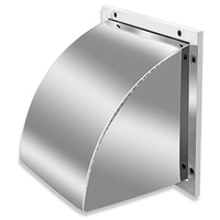 304 Stainless Steel Outer Wall Rain Cover Windshield Exhaust Fan Air Outlet Cover Hood Exhaust Vent Square Hood Peças p/ exaustor     -