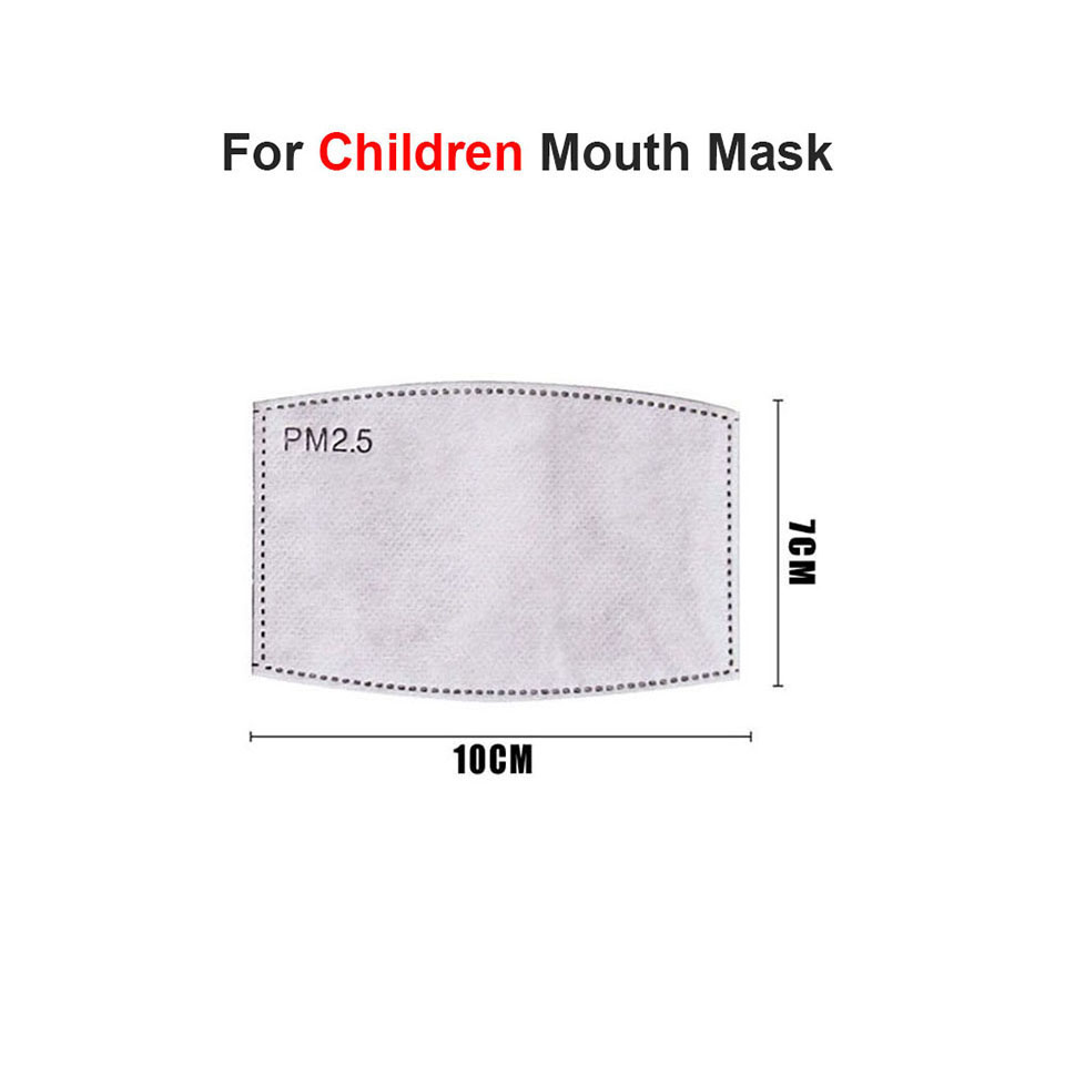 10Pcs/Set PM2.5 Anti Haze Mouth Mask Replaceable Filter-slice 5 Layers Non-woven Child Kids Activated Carbon Filter 5
