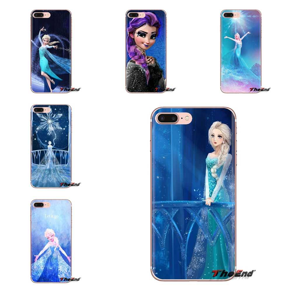 TPU Vỏ Có Punk Elsa Hình Công Chúa Cho iPhone XS Max XR X 4 4S 5 5S 5C SE 6 6S 7 8 Plus Samsung Galaxy J1 J3 J5 J7 A3 A5