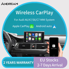 Draadloze Carplay Voor Audi A6 A5 C7/A7/S6 C7 Rs6 Carplay Voor Audi Carplay Oem Scherm Upgrade mmi Systeem Multimedia Airplay(China)