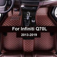 Tapetes do carro para infiniti q70l 2013 2014 2015 2016 2017 2018 2019 personalizado pé almofadas automóvel tapete capa