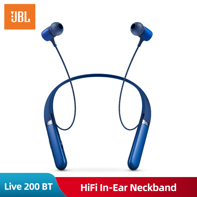 Jbl Live 200 Bt Wireless Bluetooth Sport Hifi Earphones In Ear Neckband Earphones With Three Button Remote With Microphone Buy At The Price Of 79 85 In Aliexpress Com Imall Com