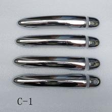 Dla Renault Megane ii 2 MK2 2002 2003 2004 2005 2006 2007 2008 klamka do drzwi z chromowanego ABS wykończenia