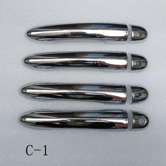 Para Renault Megane ii 2 MK2 2002, 2003, 2004, 2005, 2006, 2007, 2008 ABS cromo cubierta de la manija de la puerta trim