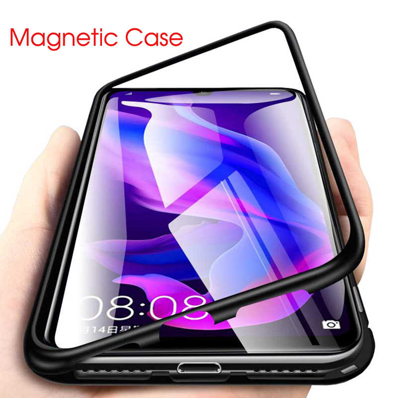 Metal Magnetic Case For Samsung Galaxy A70 A50 A40 A30 A10 S8 S9 S10 Plus 5G S7 Edge A7 A9 J4 J6 Plus J8 2018 Note 8 A2 J2 Core