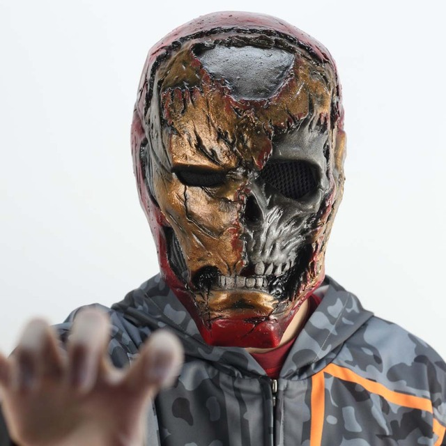 Zombie Iron Man Mask Gauntlet Cosplay Superhero Tony Stark Latex Masks Gloves Halloween Props