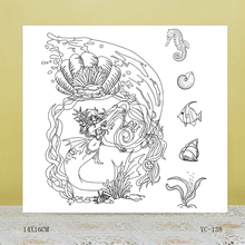 AZSG Mermaid Clear Stamps For DIY Scrapbooking/Card Making/Album Decorative Rubber Stamp Crafts azsg creek in the forest clear stamps for diy scrapbooking card making album decorative rubber stamp crafts