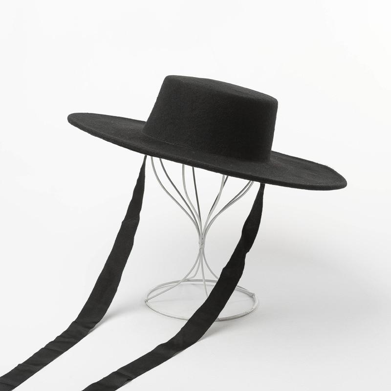 Фетровая шляпа с широкими полями, зимние шапки для женщин и мужчин, модная шерстяная шляпа с ремешком на подбородке, женская шапка