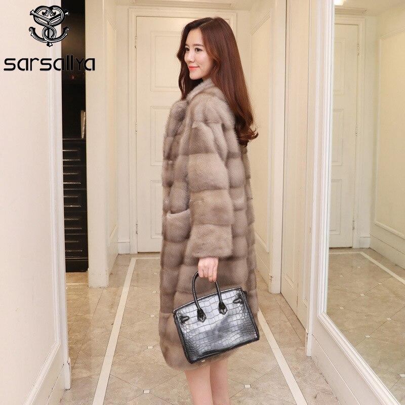 Mink Coats Women Real Mink Fur Coats Natural Mink Coat Female Genuine Fur Jackets Ladies Long Luxury Winter Overcoats Oversize