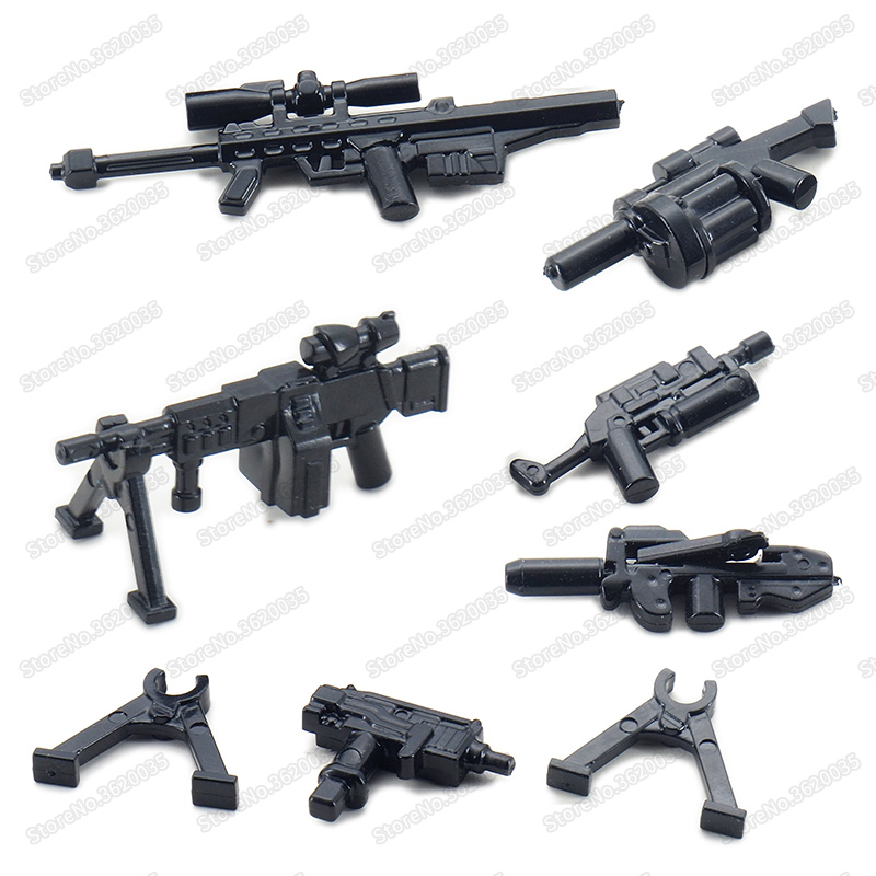Legoinglys Military Weapons Figures Special Police Building Blocks Assemble Guns Ww2 Soldier Equipped Child Christmas Gifts Toys
