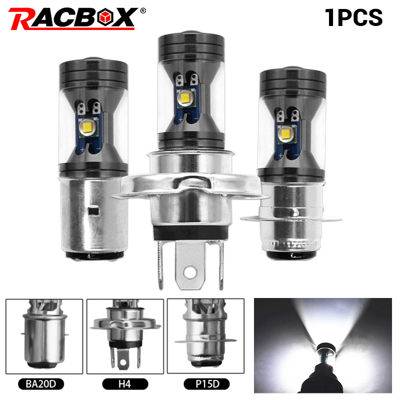 1pc <font><b>H4</b></font> H6 P15D BA20D mini <font><b>Led</b></font> <font><b>Motorcycle</b></font> Headlight <font><b>Bulb</b></font> 1200LM Hi/Low Beam 6000K white super Bright DRL car <font><b>motorcycles</b></font> 12V 24V image
