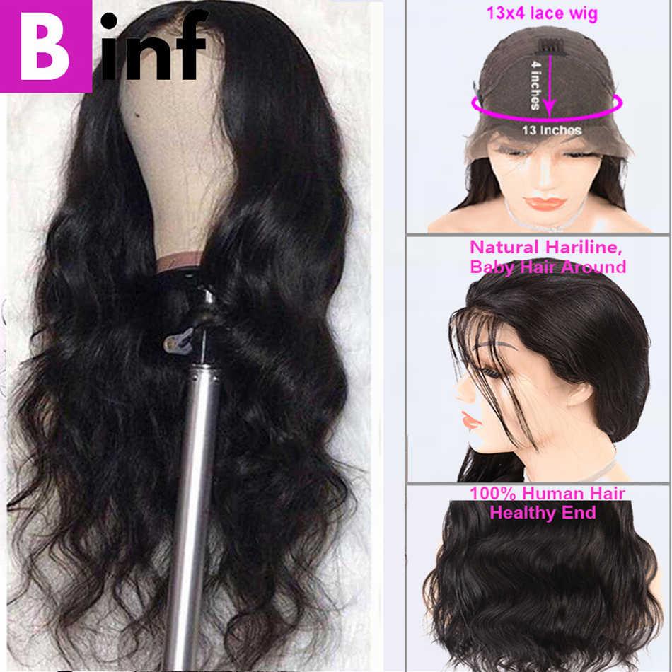 الجسم Wave13x4 الدانتيل الجبهة خصلات الشعر المستعار الإنسان عالية التموين البرازيلي شعر ريمي قبل نتف مع شعر الطفل 150 ٪ الكثافة 8-24 بوصة Color1b