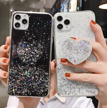 Bling Glitter Case Voor Samsung Galaxy S20 Ultra S10 S9 S8 Plus Note 10 A51 A71 A91 A10 A20 A30S a50 A70 Hart Houder Spiegel Case(China)